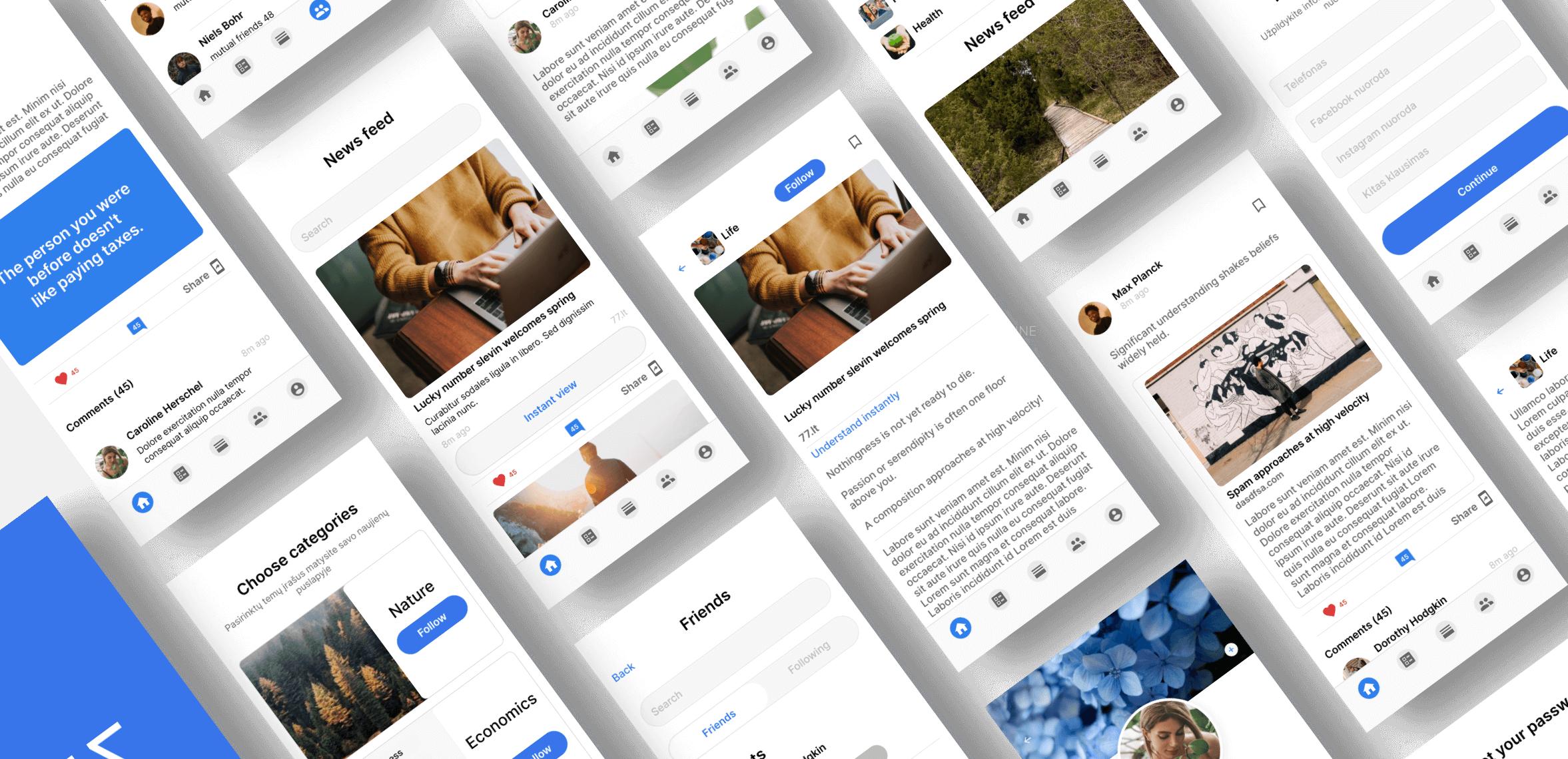 77, a social network app we built with Bubble, a No Code software development tool.