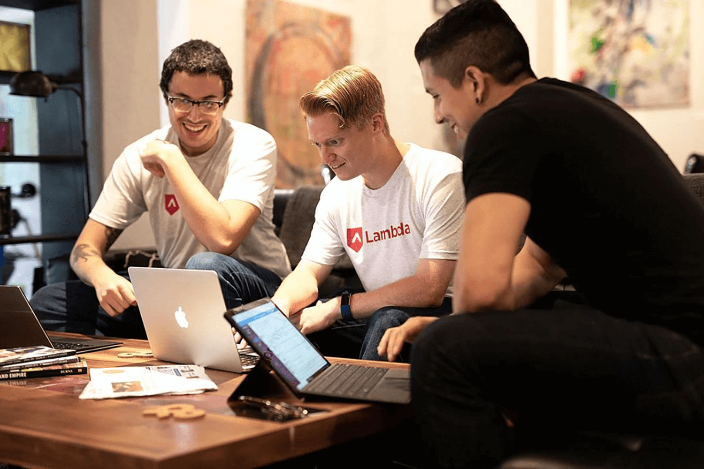 The students of Lambda School, a No Code-based online programming school