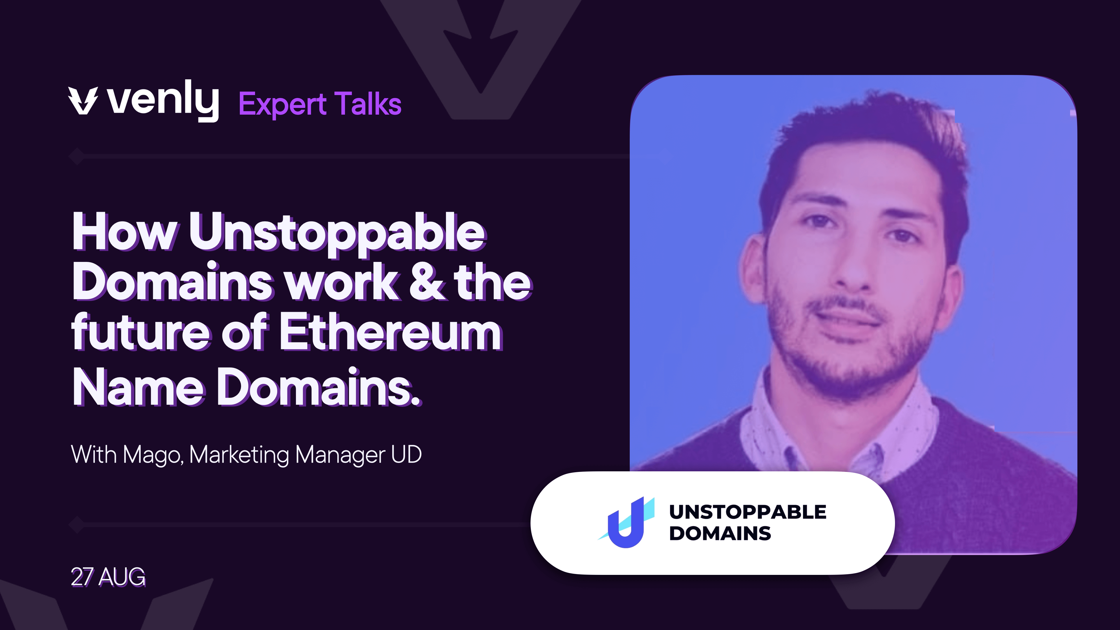 Venly Expert Talks: The future of ENS (Ethereum Name Services), with Unstoppable Domains