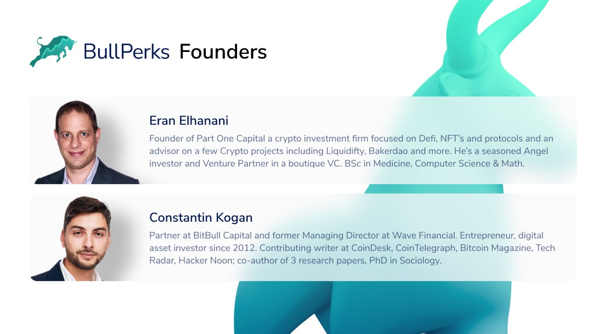 """Bullperks on Twitter: """"📣 Meet our Founders The BullPerks founders have a  wealth of experience in the industry. Read more about them RIGHT HERE!  https://t.co/FNmfnFyWlw https://t.co/w8Qh9DBSoJ"""" / Twitter"""