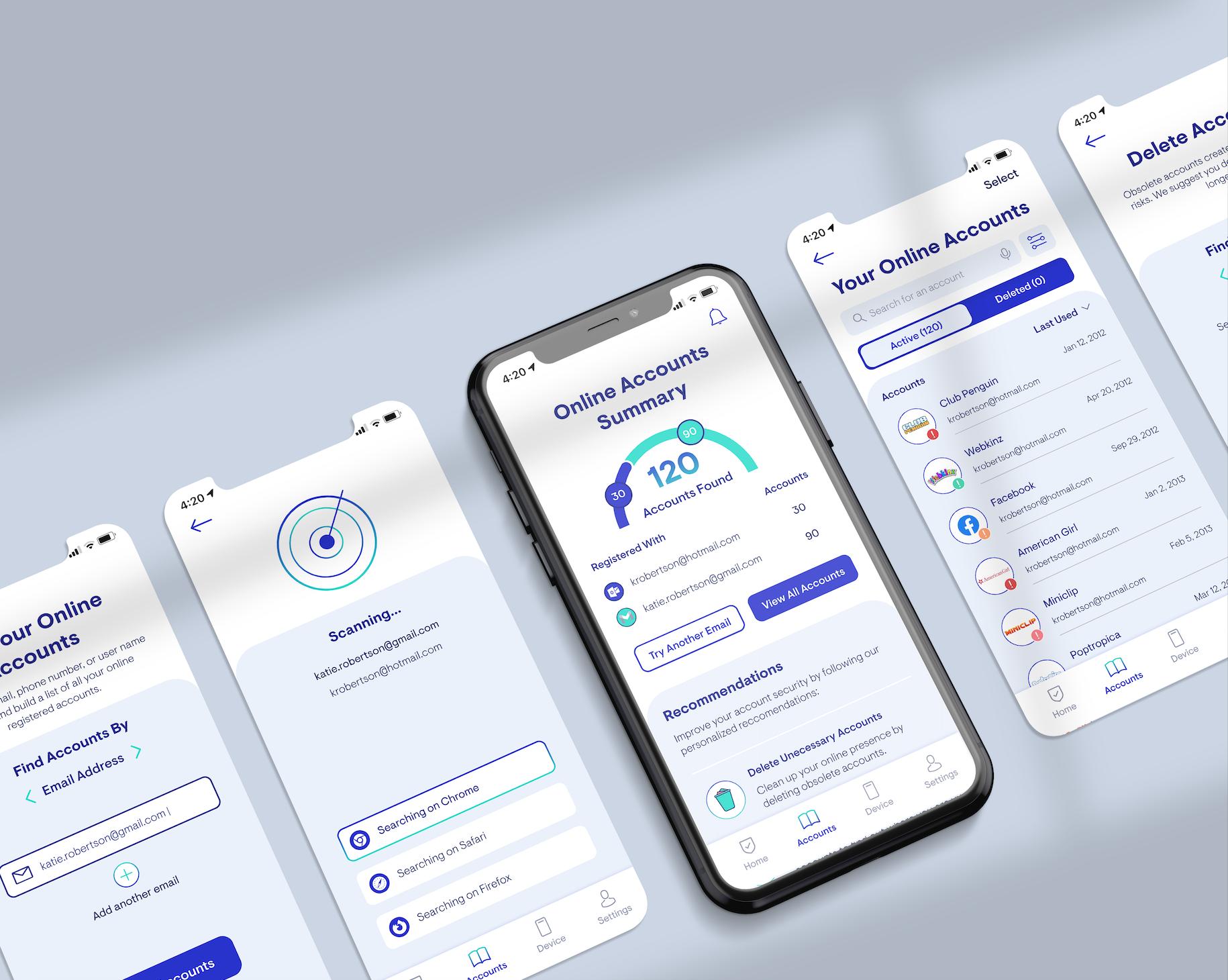 Mockup of Protekt App Screens
