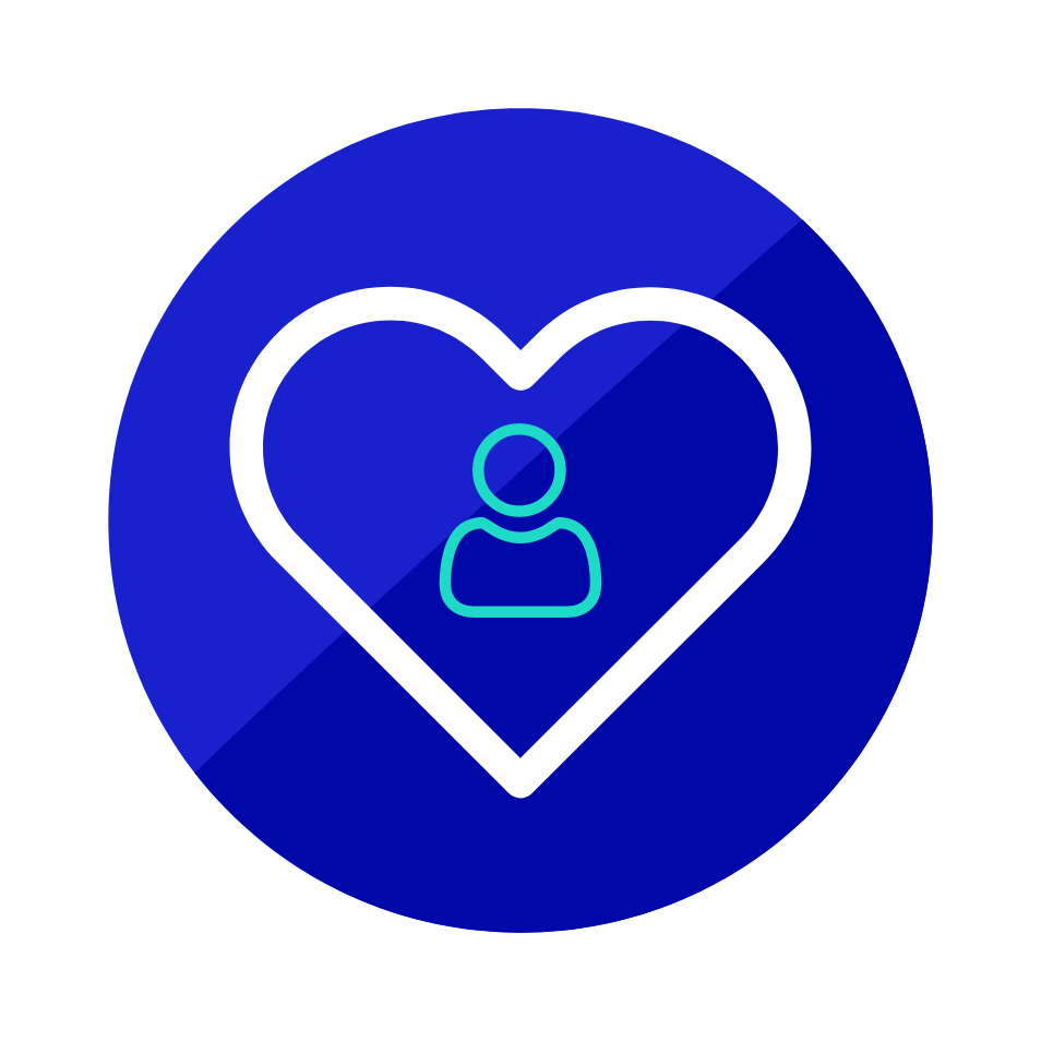 Icon: Heart with Person Inside