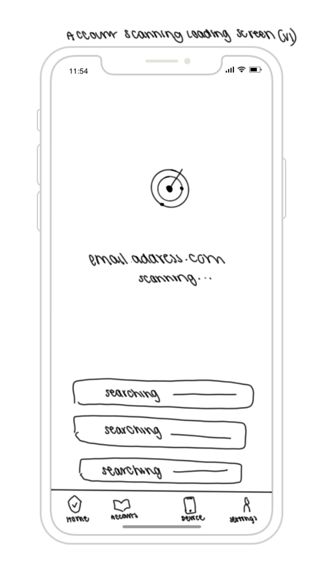 Sketch #2: Account Scanning Page