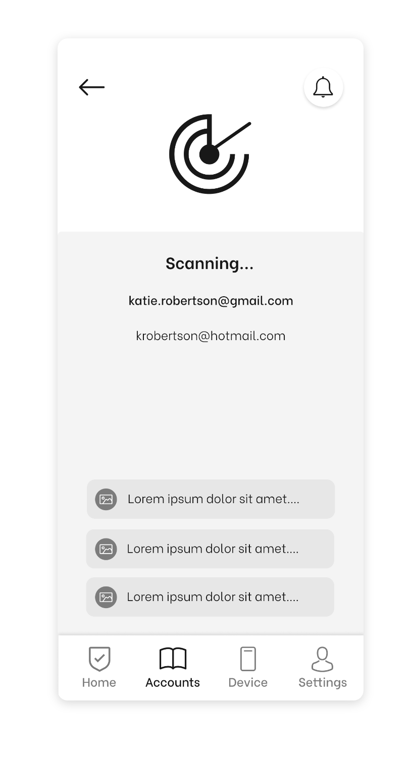 Wireframe #4: Finding Accounts Page