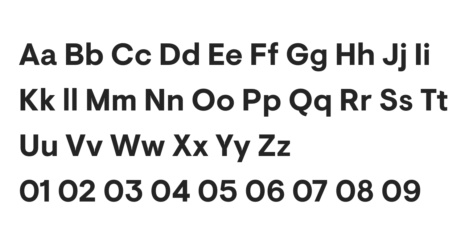 Sofia Pro Typeface Alphabet