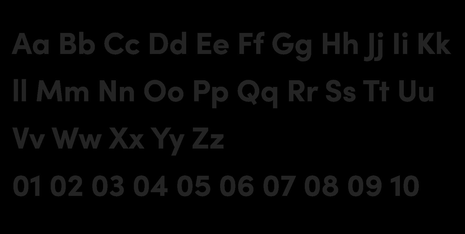 Visuelt Pro Typeface Alphabet