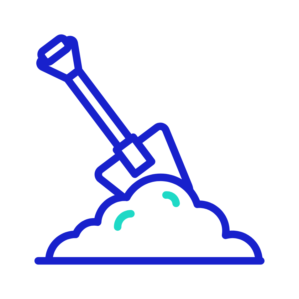 Icon: Shovel digging a hole