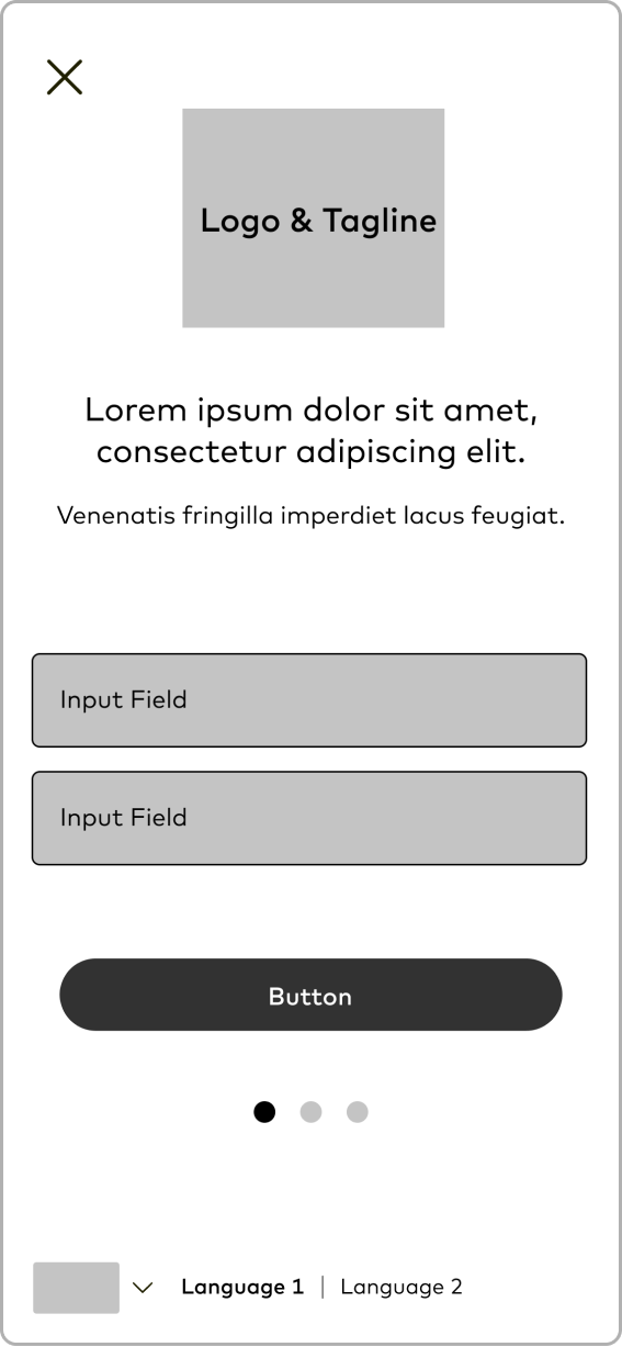 Wireframe: Popup Modal Login Activated
