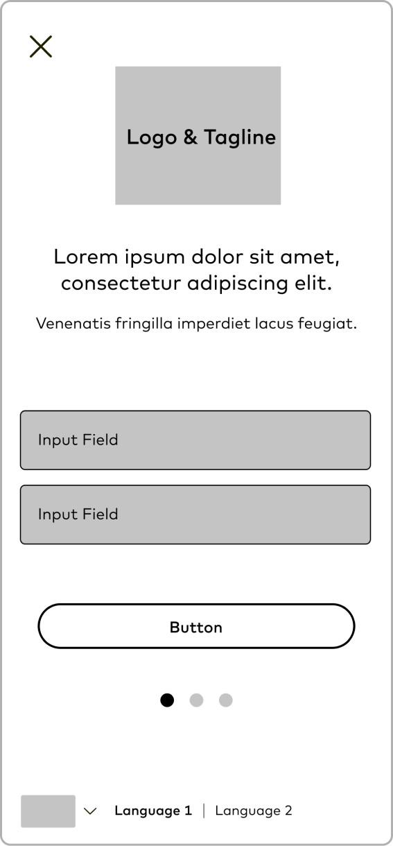 Wireframe: Popup Modal Login Tapped
