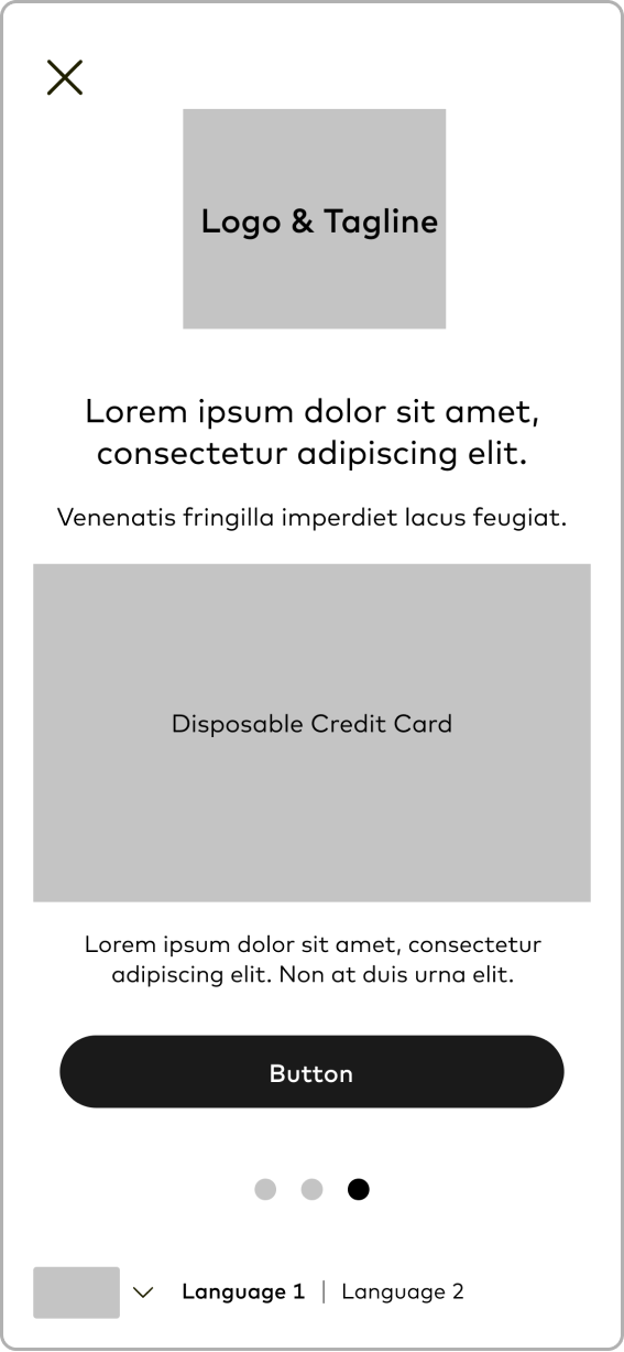 Wireframe: Confirm Purchase