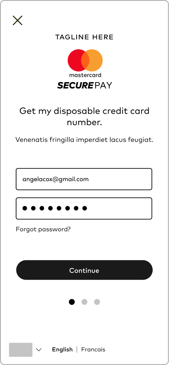 Mid-fi Wireframe: Popup Modal Login Activated