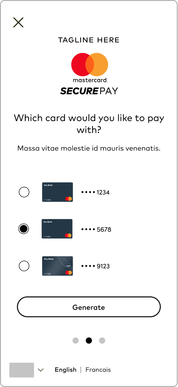 Mid-Fi Wireframe: Select Credit Card_Tapped
