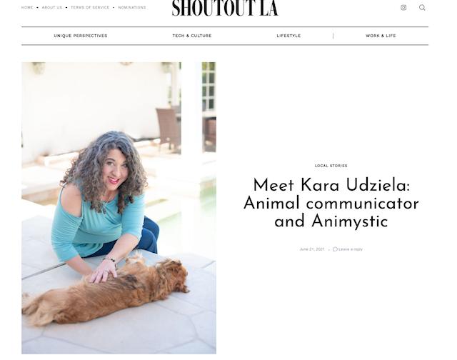 Animal Communicator in ShoutOut LA