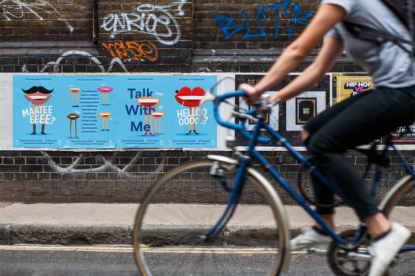 'Talk With Me' out of home posters non-profit awareness campaign.