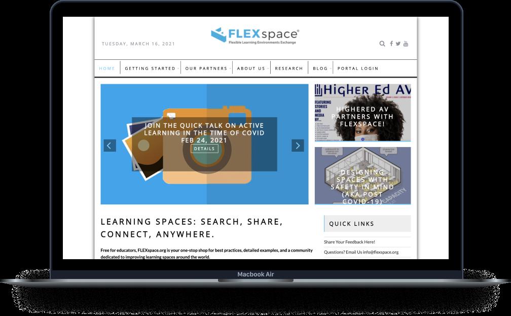 Laptop Flexspace Website Mockup