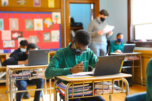 BJP students use Chromebooks in a variety of ways, from in-class instruction to independent study and homework.