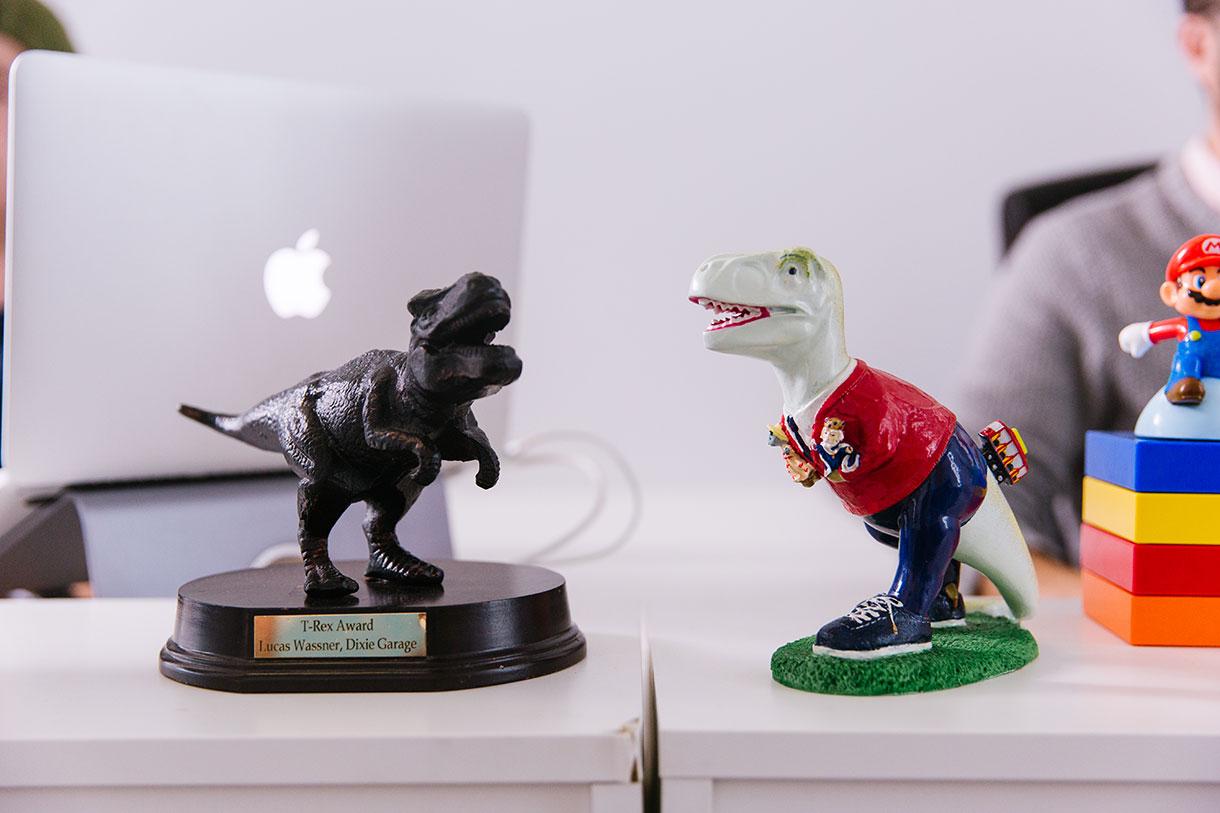 Office dinosaurs