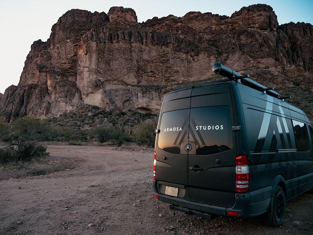 Armosa van on location