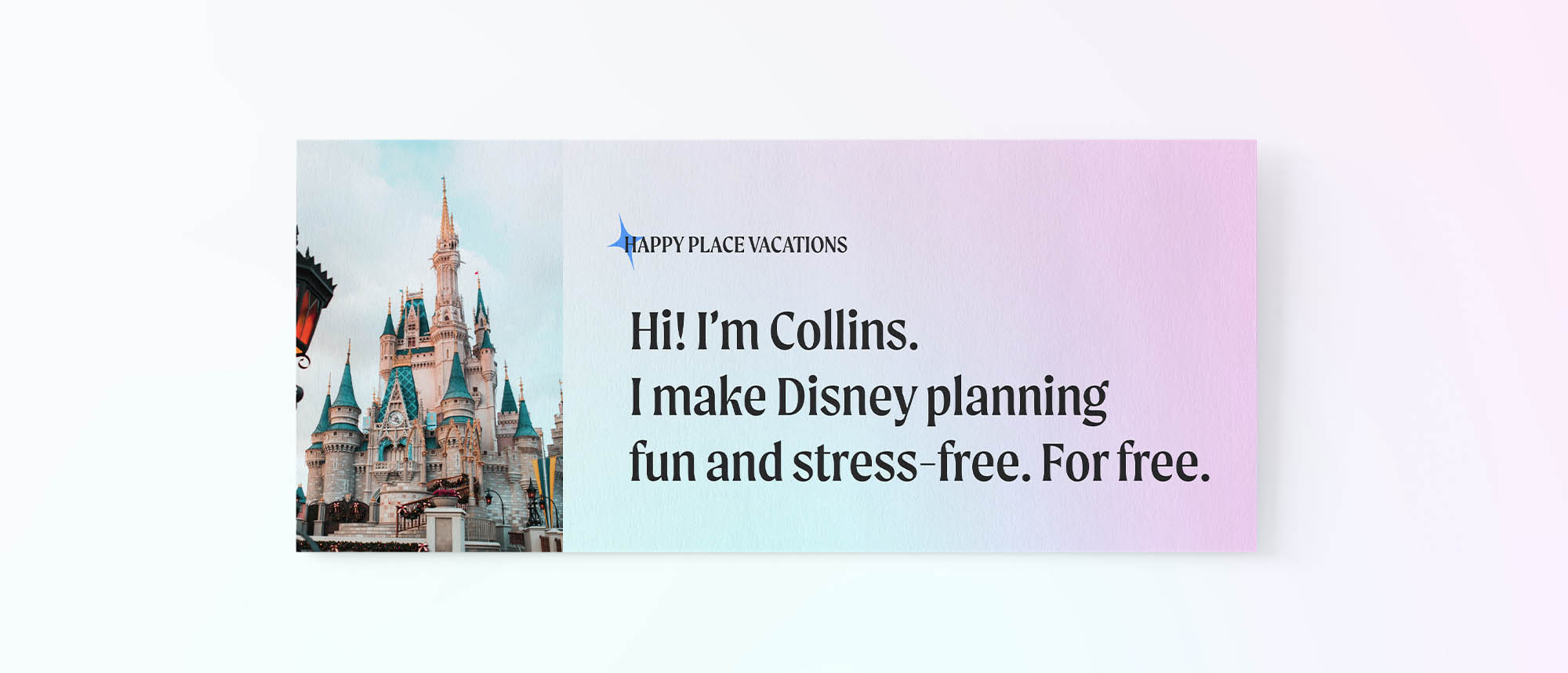Flyer branding design for Happy Place Vacations