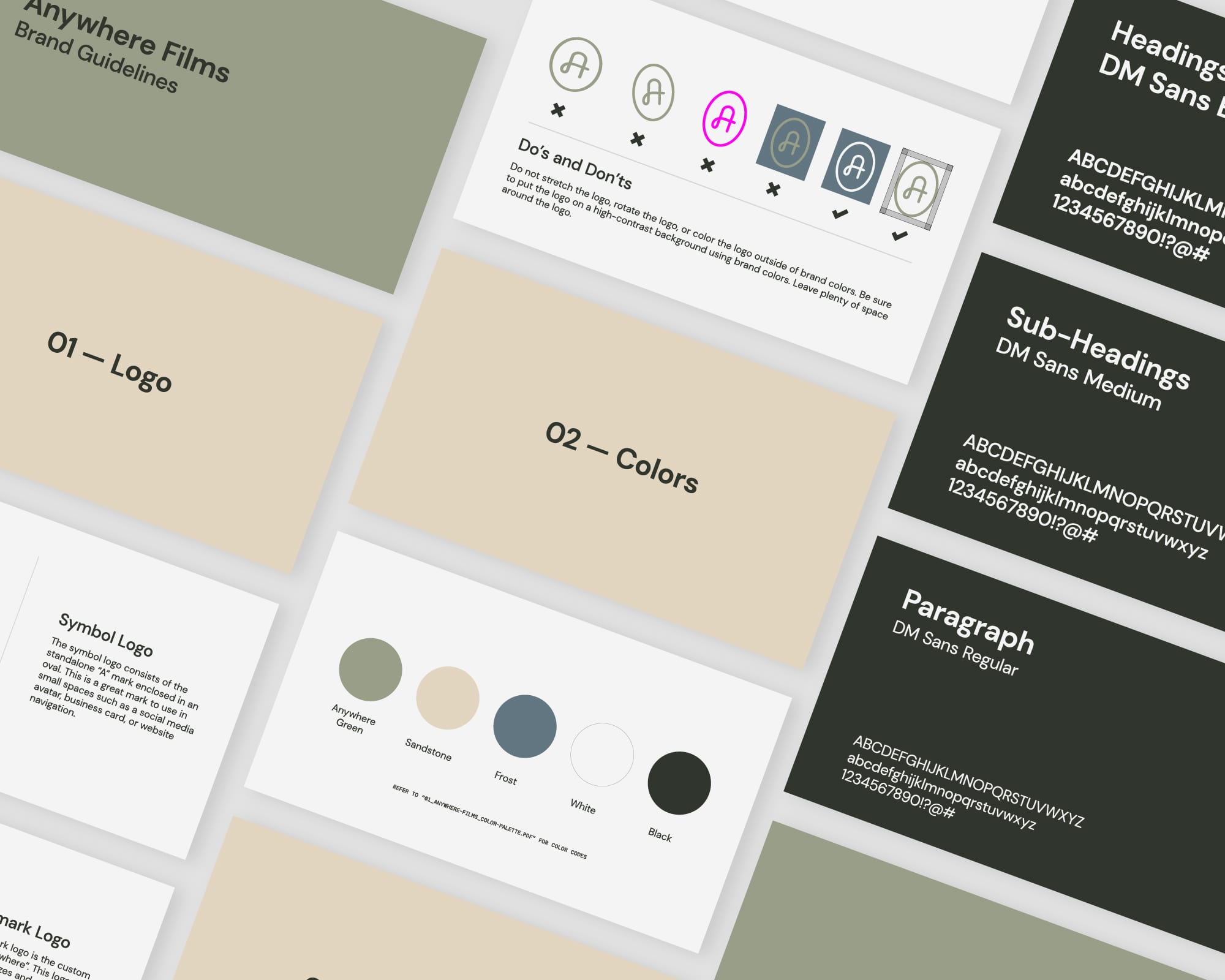 Anywhere Films Brand Guidelines