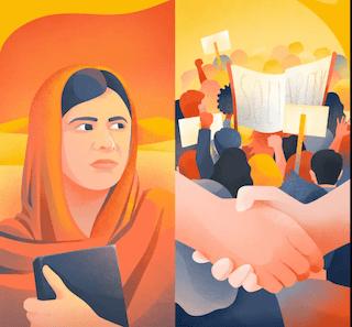 Comparing I am Malala and Pride
