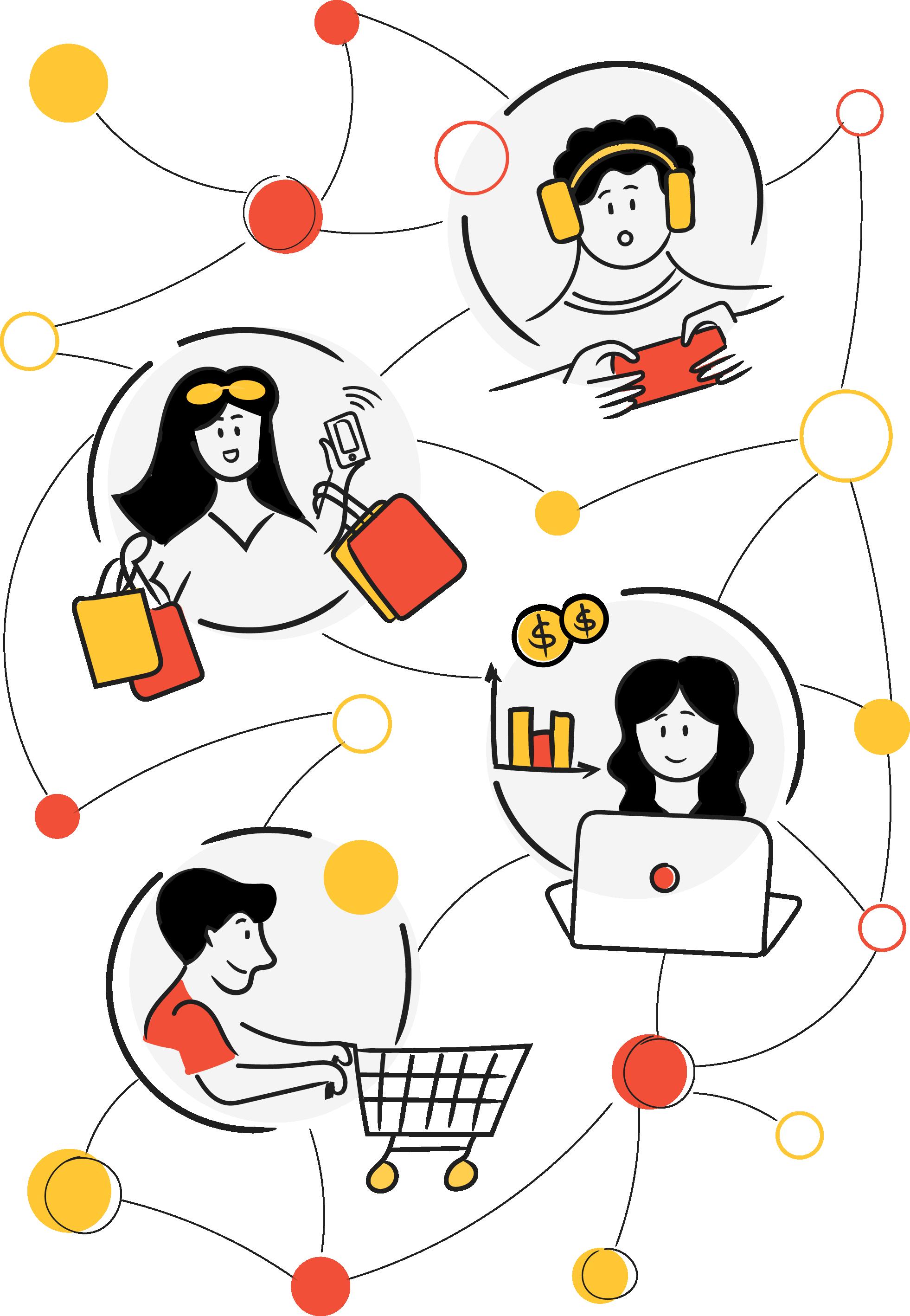 Unthink Network Illustration