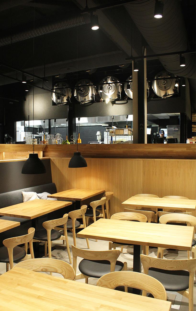 Ravintolan pöydät