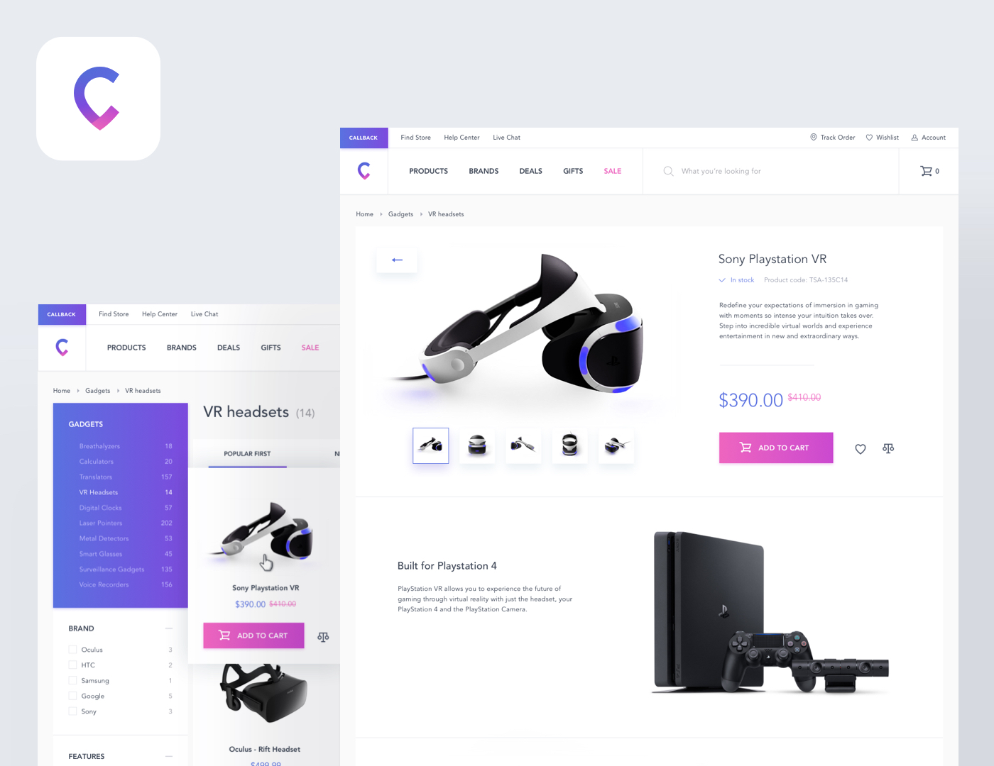E-commerce website preview image
