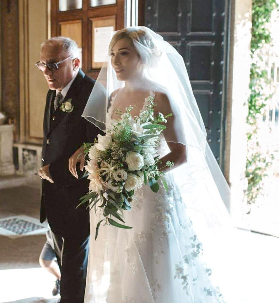 Abito da sposa Atelier Ferrari Bridal matrimonio a Roma