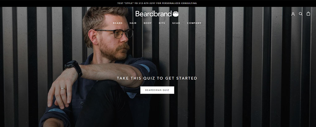 Beardbrand Announcement Bar