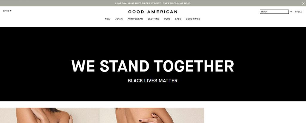 Announcement Bar Shopify Good American
