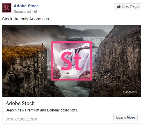 ejemplo Adobe para anuncios en Facebook