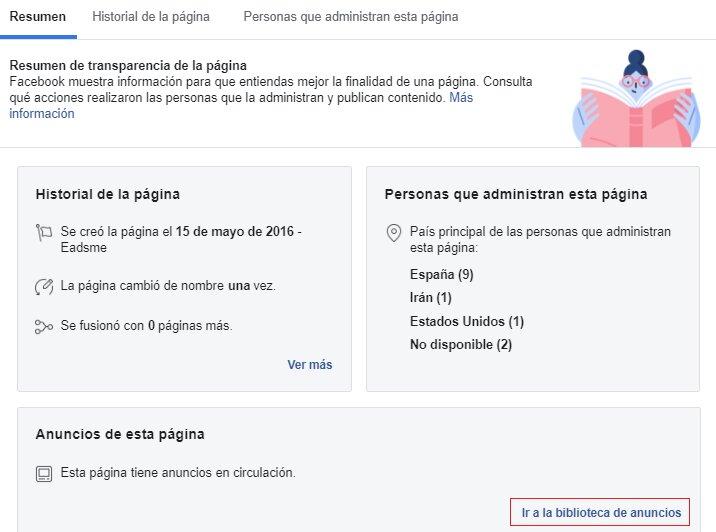 analizar facebook competencia con Facebook ads library