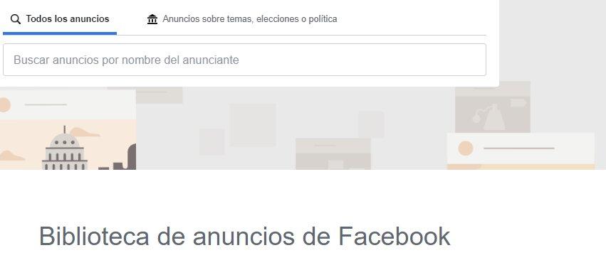 biblioteca de anuncios de facebook para espiar a la competencia
