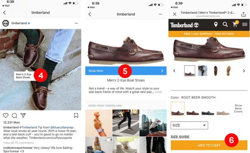 compras en instagram. etiquetar articulos