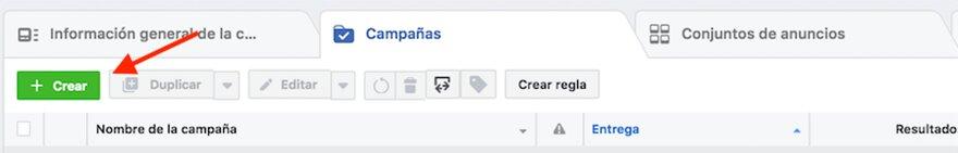 crear anuncios en facebook. Crear campaña