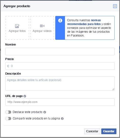 Cómo crear tu tienda en Facebook de forma fácil - Paso 7
