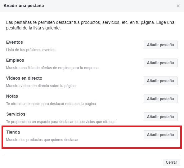 Cómo crear tu tienda en Facebook de forma fácil - Paso 2