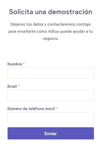 ejemplo de formulario para captar clientes