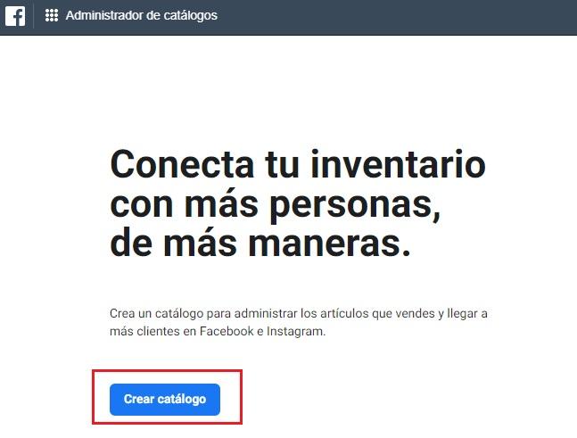 crear catálogo de facebook