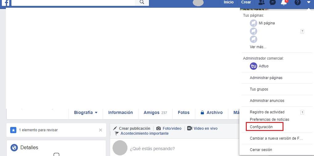 privacidad de tu perfil en facebook
