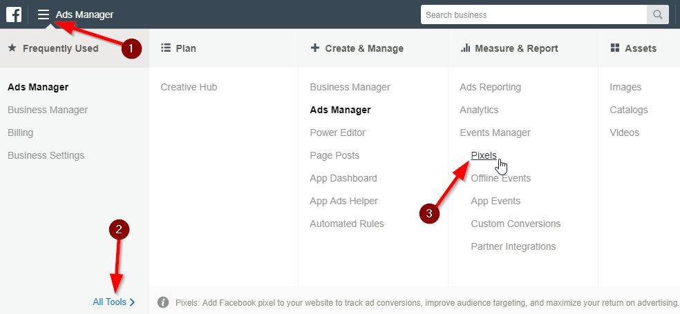 pixel de facebook en prestashop. Entrar Business Manager Facebook