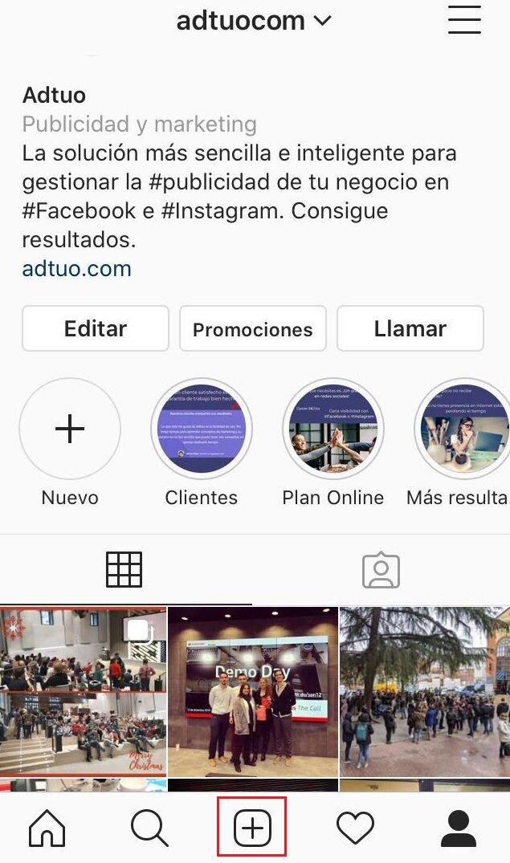 como publicar en instagram-paso 1