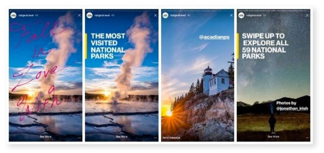Instagram stories National Geographic