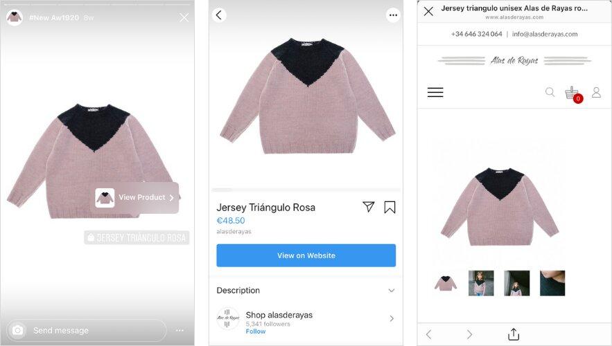 etiquetar productos en las historias de instagram