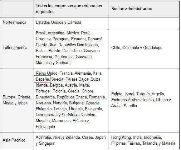 países en los que se permite tener una tienda en instagram