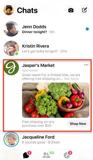 social commerce con facebook messenger