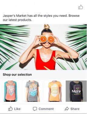 Formato colección en Facebook Ads