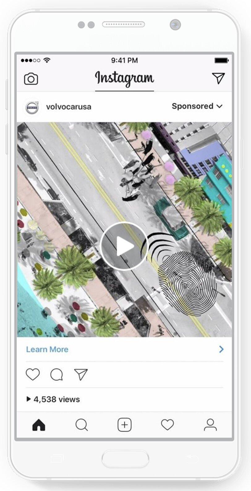 anuncio de vídeo en instagram