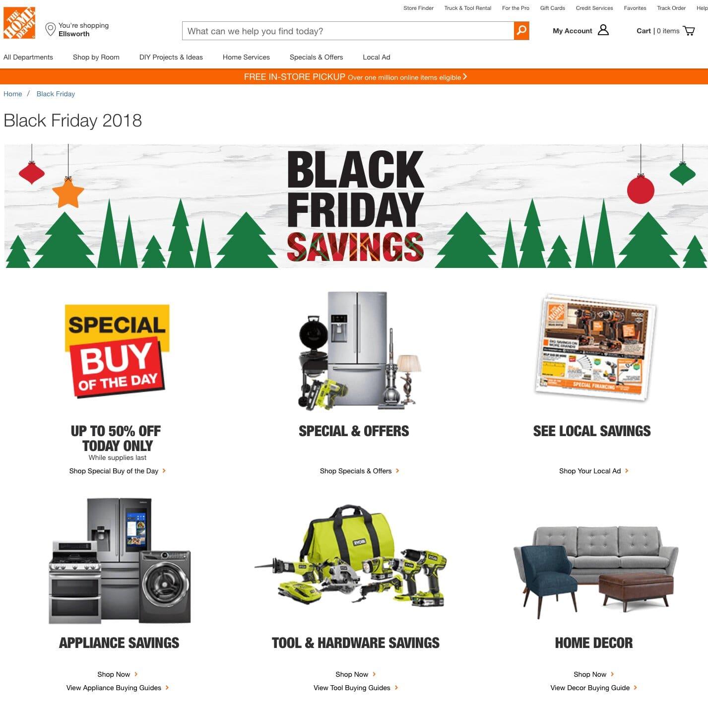 directorio de productos en Black Friday 2020